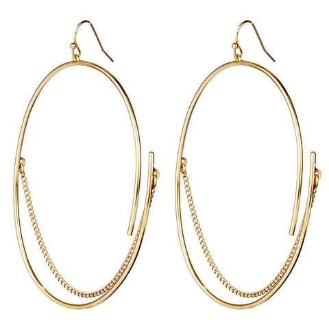 Large Rill Hoops By Jenny Bird in Gold