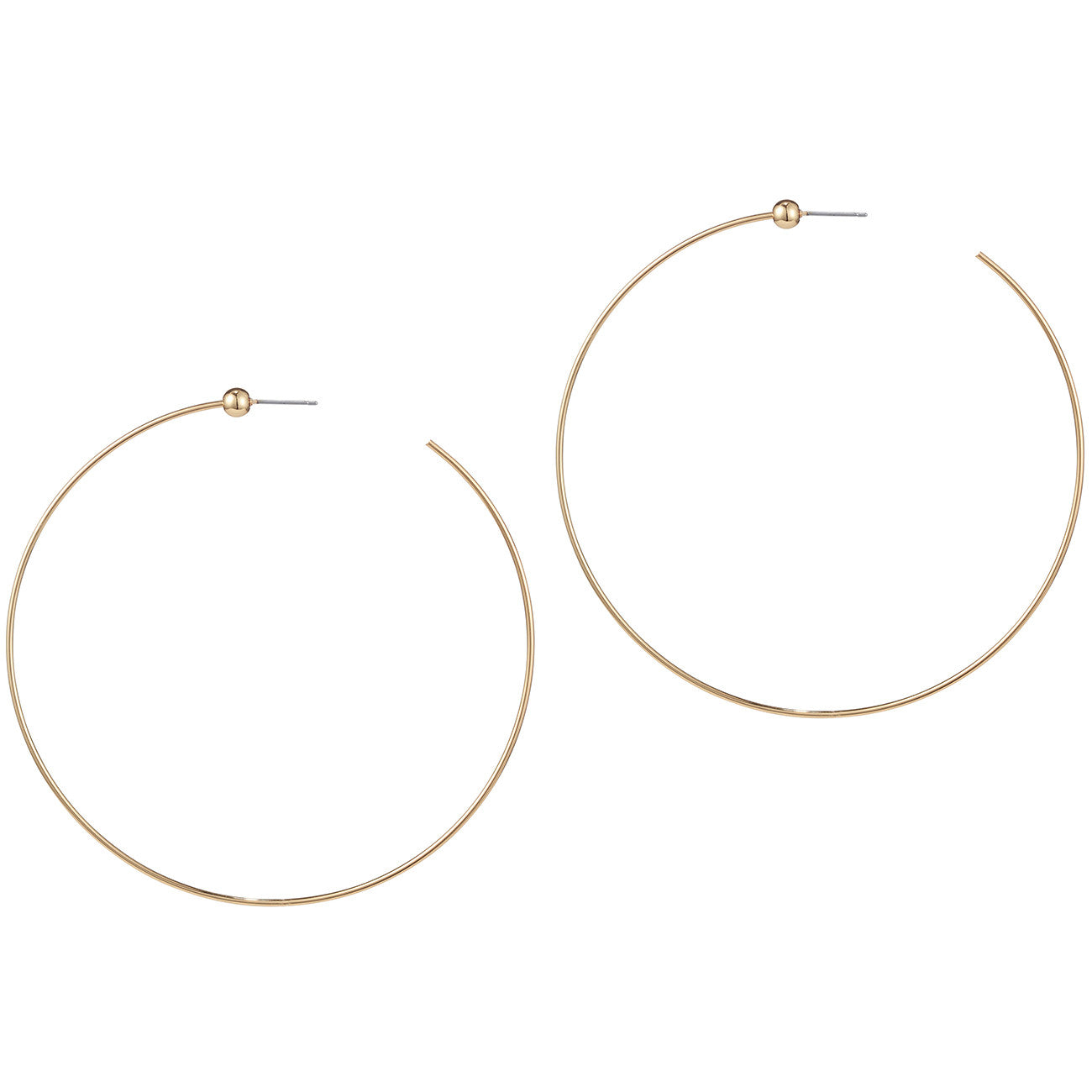 Large Icon Hoops by Jenny Bird in High Polish Gold