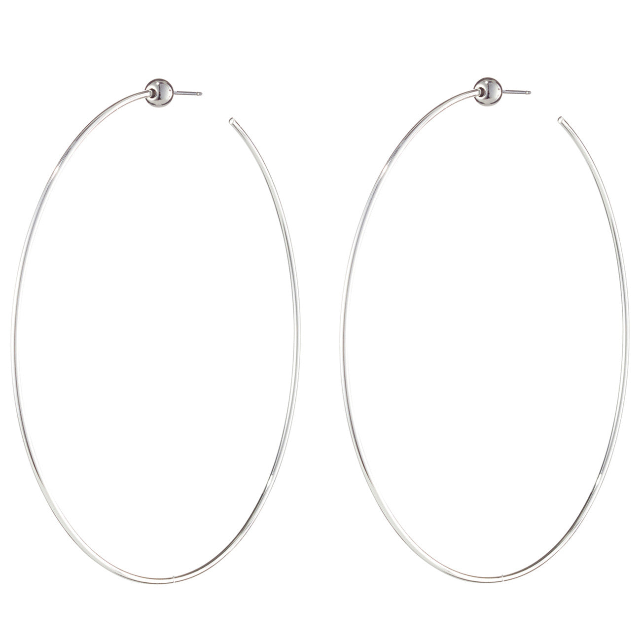 Large Icon Hoops by Jenny Bird in High Polish Silver