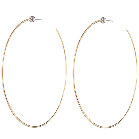 Large Icon Hoops by Jenny Bird in Two-Tone