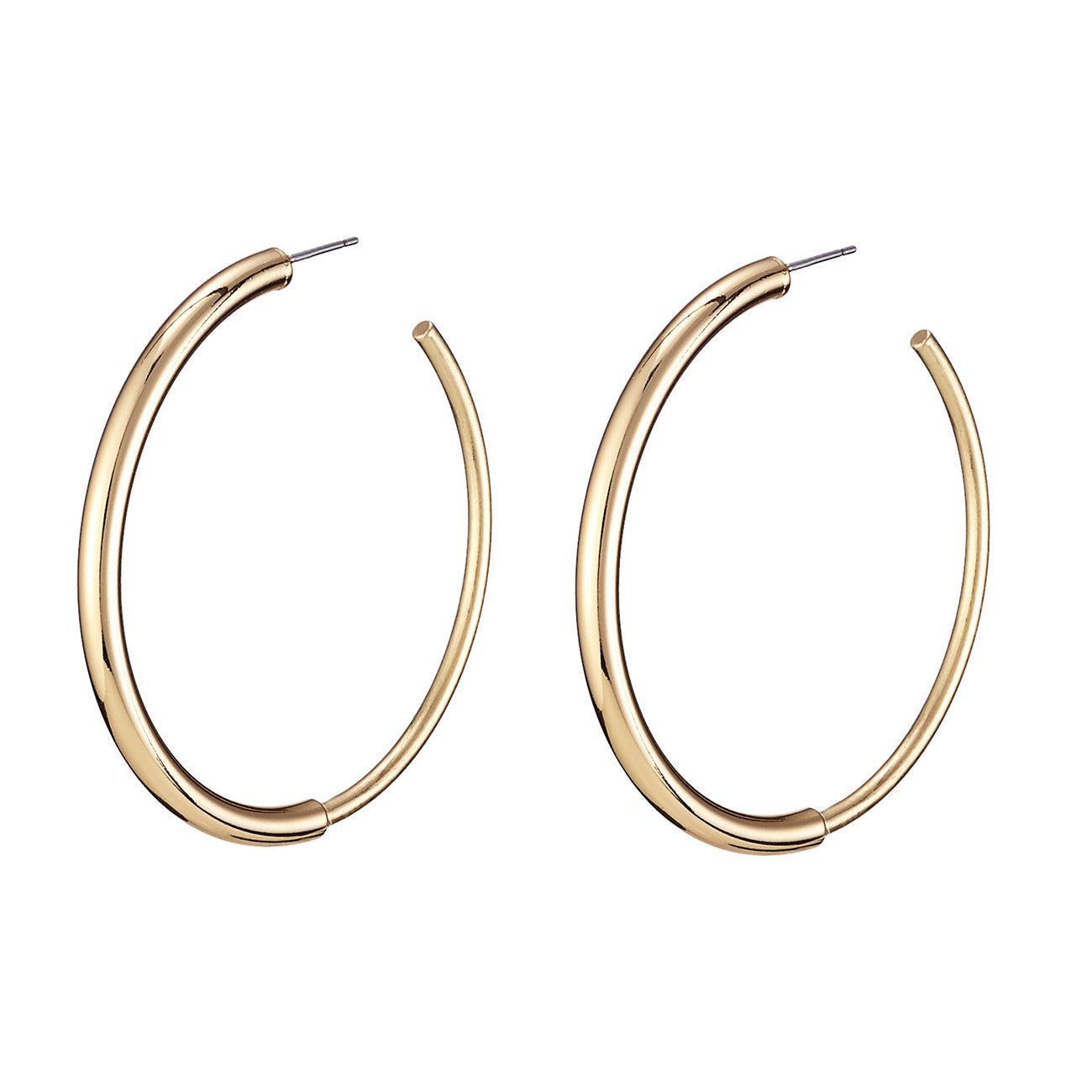 The small Lola Hoops by Jenny Bird in High Polish Gold