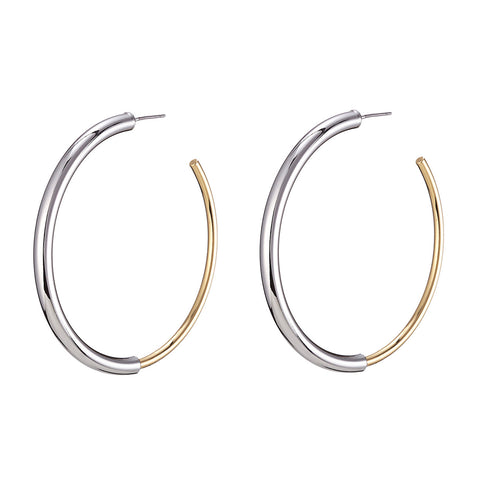 The small Lola Hoops by Jenny Bird in Two-Tone