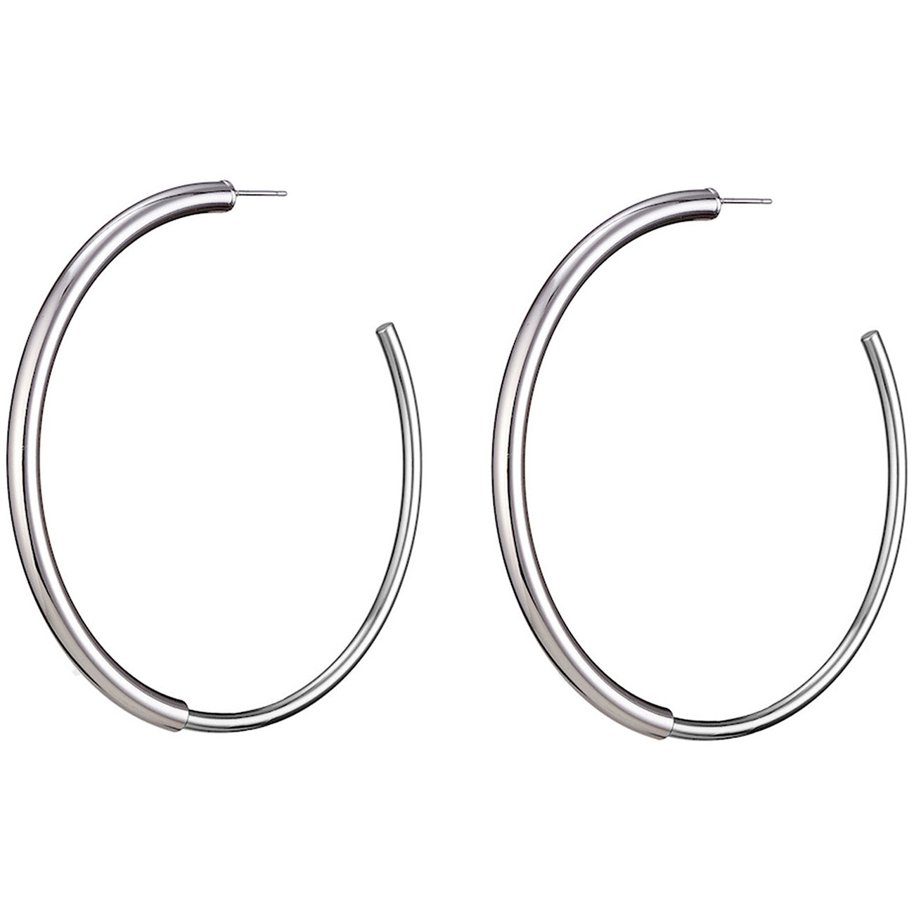 The large Lola Hoops by Jenny Bird in Rhodium