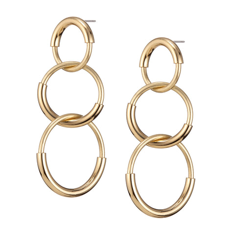 The Ossie Earrings by Jenny Bird in High Polish Gold