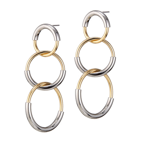 The Ossie Earrings by Jenny Bird in Two-Tone