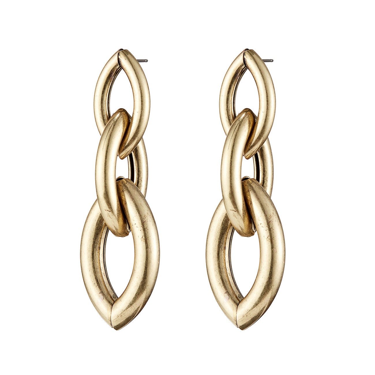 Sloane Earrings by Jenny Bird in Oxidized Gold