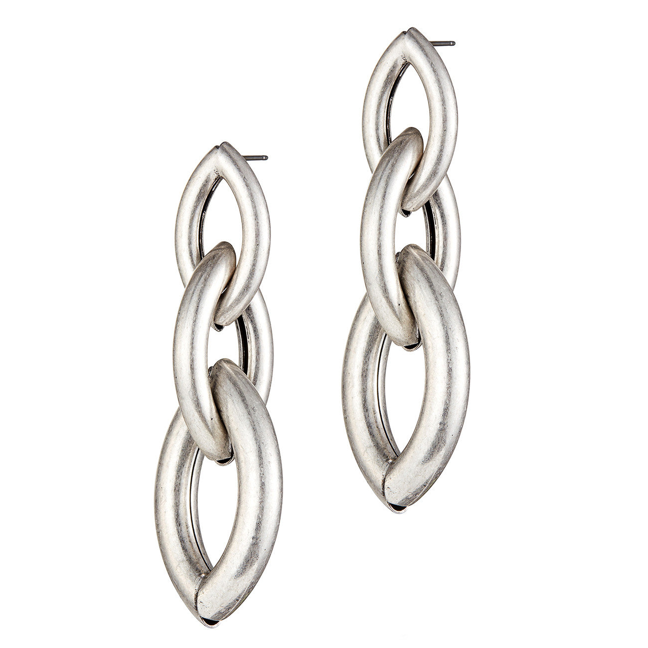 Sloane Earrings by Jenny Bird in Oxidized Silver