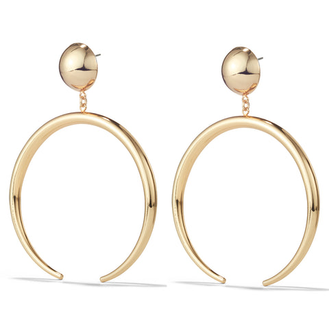 The Factory Earrings by Jenny Bird in High Polish Gold