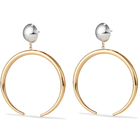 The Factory Earrings by Jenny Bird in Two-Tone