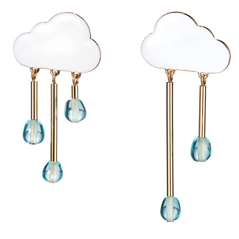 The Chance of Rain Earrings by Jenny Bird