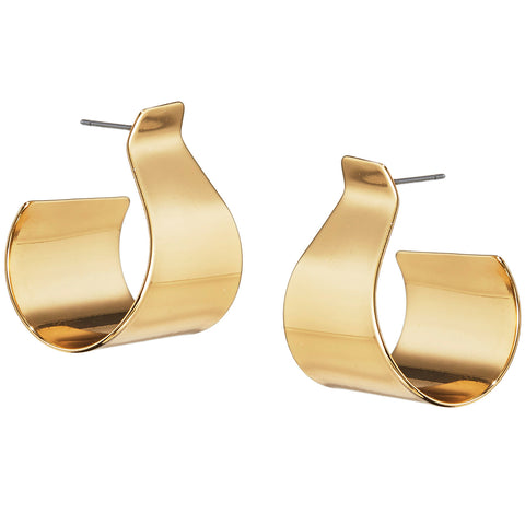The Dune Hoops by Jenny Bird in High Polish Gold