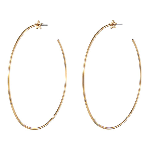 The Starlet Hoops by Jenny Bird in High Polish Gold
