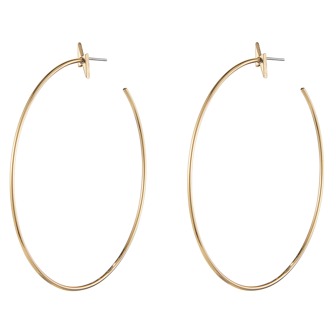 The Thunder Struck Hoops by Jenny Bird in High Polish Gold