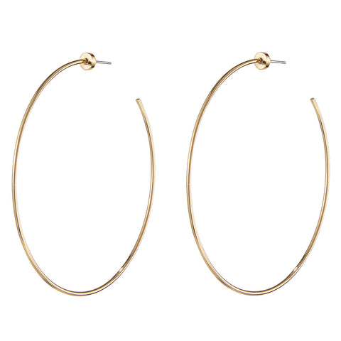 The Solar Hoops by Jenny Bird in High Polish Gold