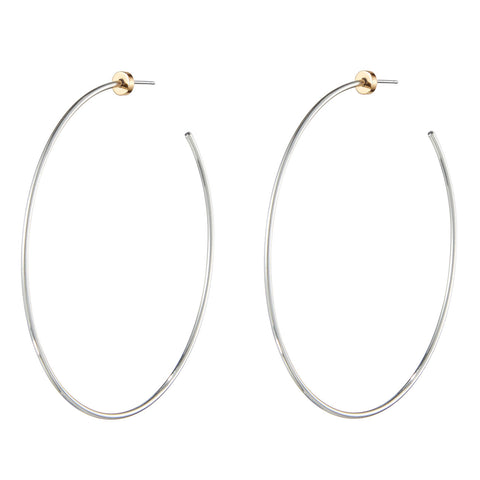 The Solar Hoops by Jenny Bird in Two-Tone
