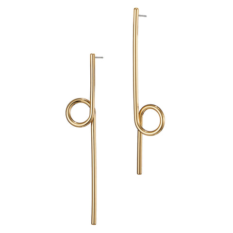 The Otis Earrings by Jenny Bird in High Polish Gold
