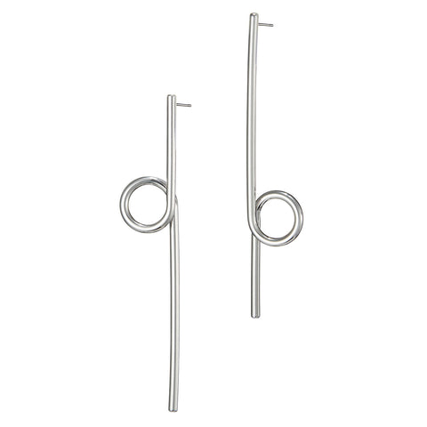 The Otis Earrings by Jenny Bird in Rhodium