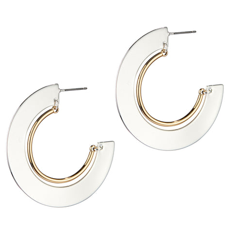 Uma Hoops by Jenny Bird in Two-Tone