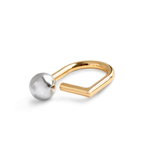 The Saros Ring by Jenny Bird in Two-Tone
