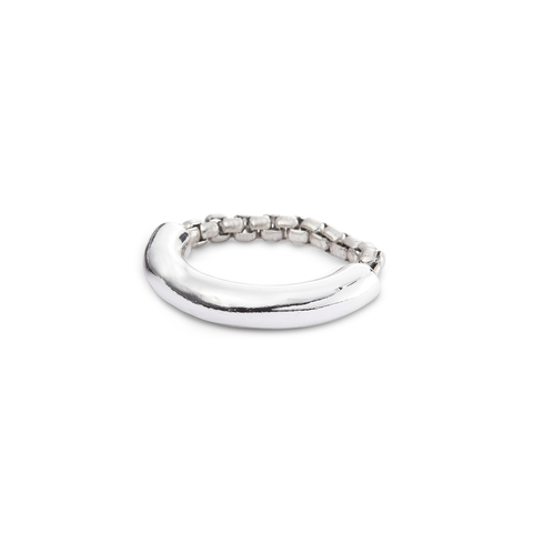 Silver thick Amelia Ring by Jenny Bird