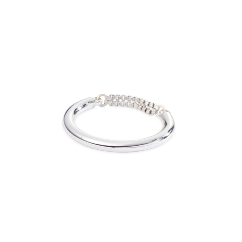 Silver dainty chain Sadie Ring by Jenny Bird