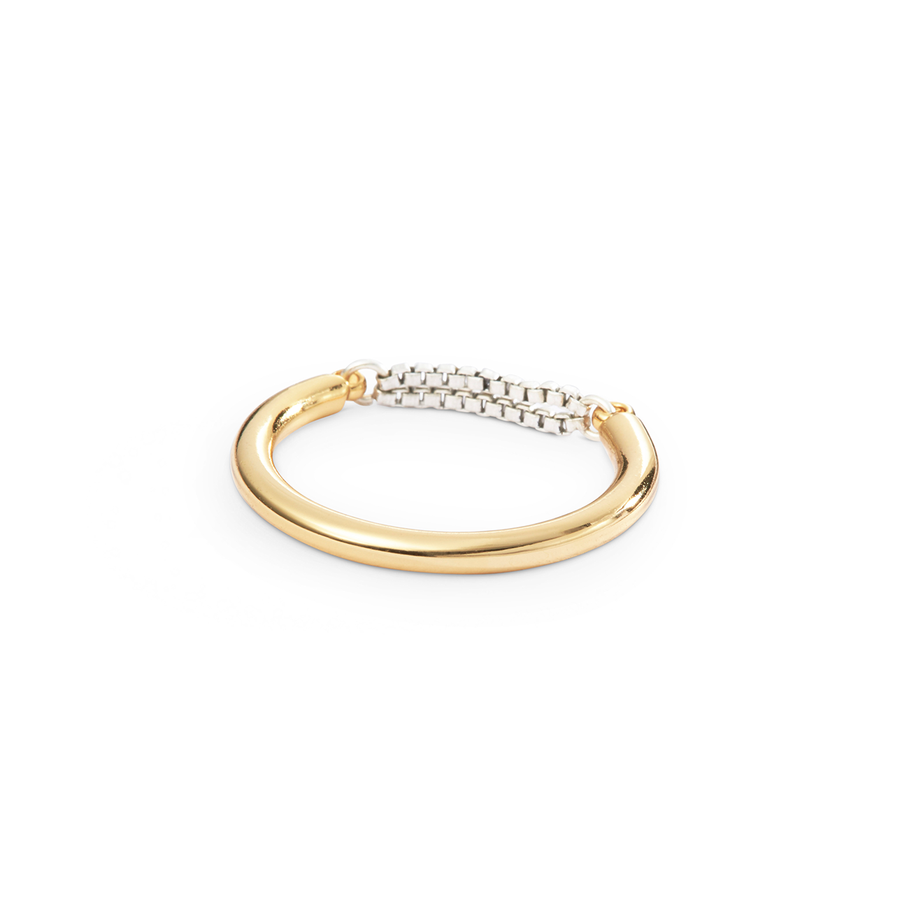 Gold and silver dainty chain Sadie Ring by Jenny Bird