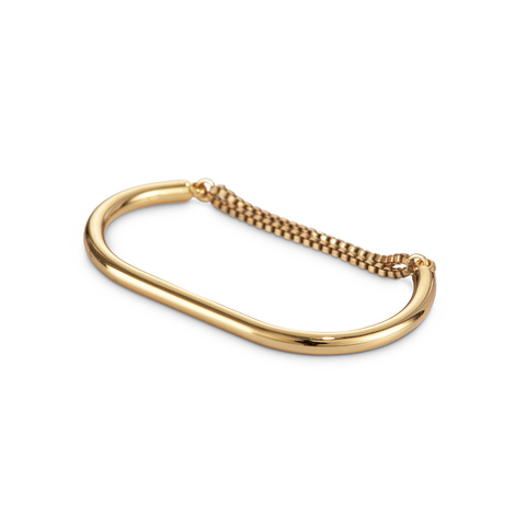 Gold double finger Double Sadie Ring by Jenny Bird