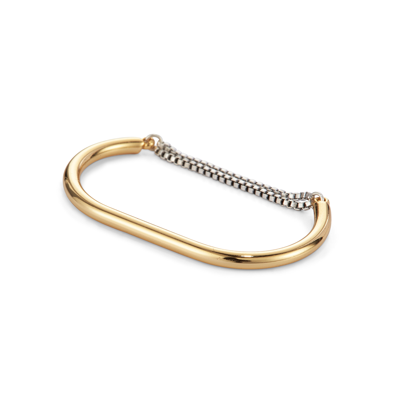 Gold and silver double finger Double Sadie Ring by Jenny Bird