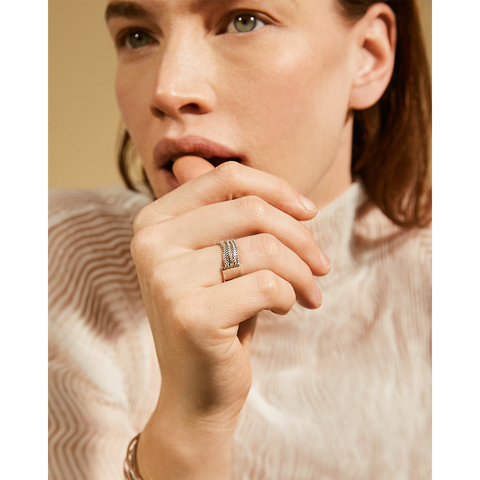 Silver small Chloe chain Ring by Jenny Bird