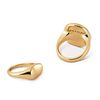 Small pinky Dee Signet Ring in Gold by JENNY BIRD