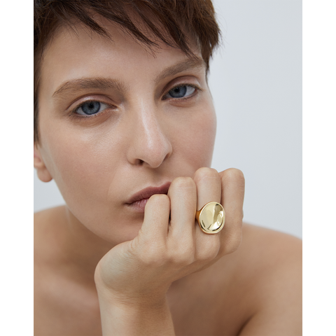 Gold natural shaped Mithras Ring by JENNY BIRD