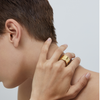 Gold barrel-style Ora Ring by JENNY BIRD