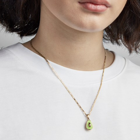 Avocado Charm & Elli Chain Necklace