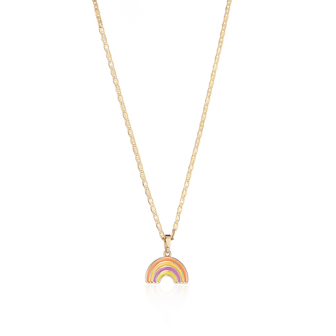 Rainbow Charm & Elli Chain Necklace