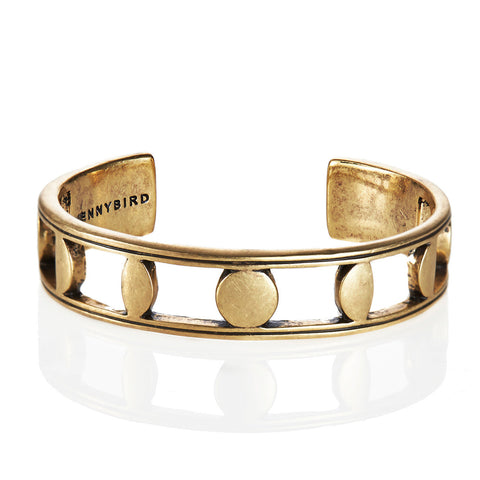 Moonsong Cuff in Gold by Jenny Bird