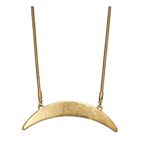 Crescent Moon Necklace in Gold by Jenny Bird