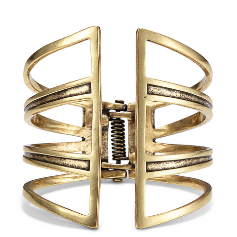 Chamber Cuff by Jenny Bird in Gold