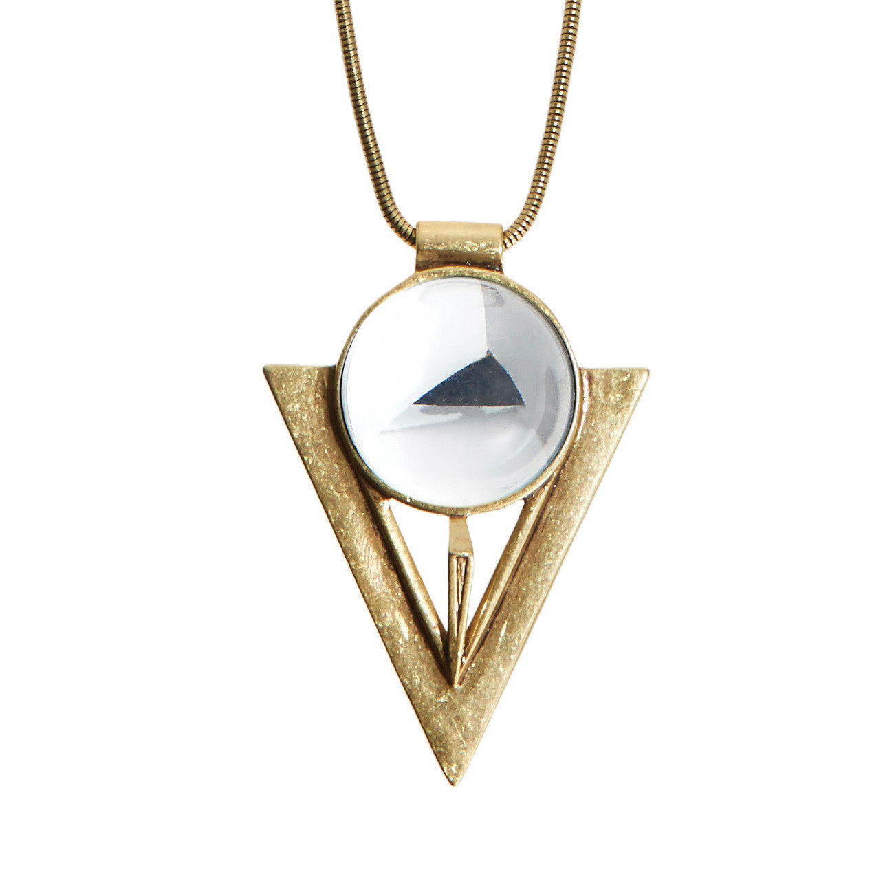 Bowie Pendant in Gold by Jenny Bird