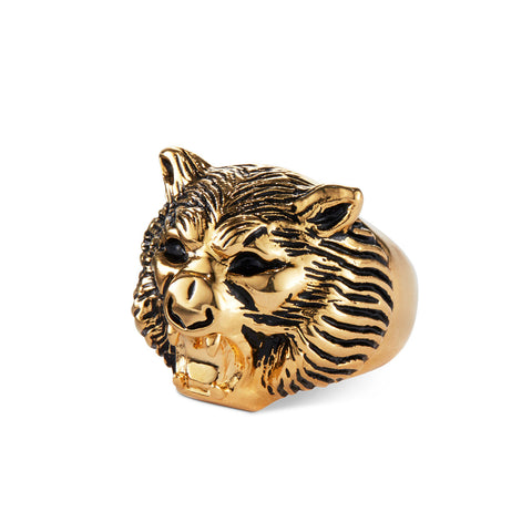 Hear Me Roar lion ring by Jenny Bird in Gold
