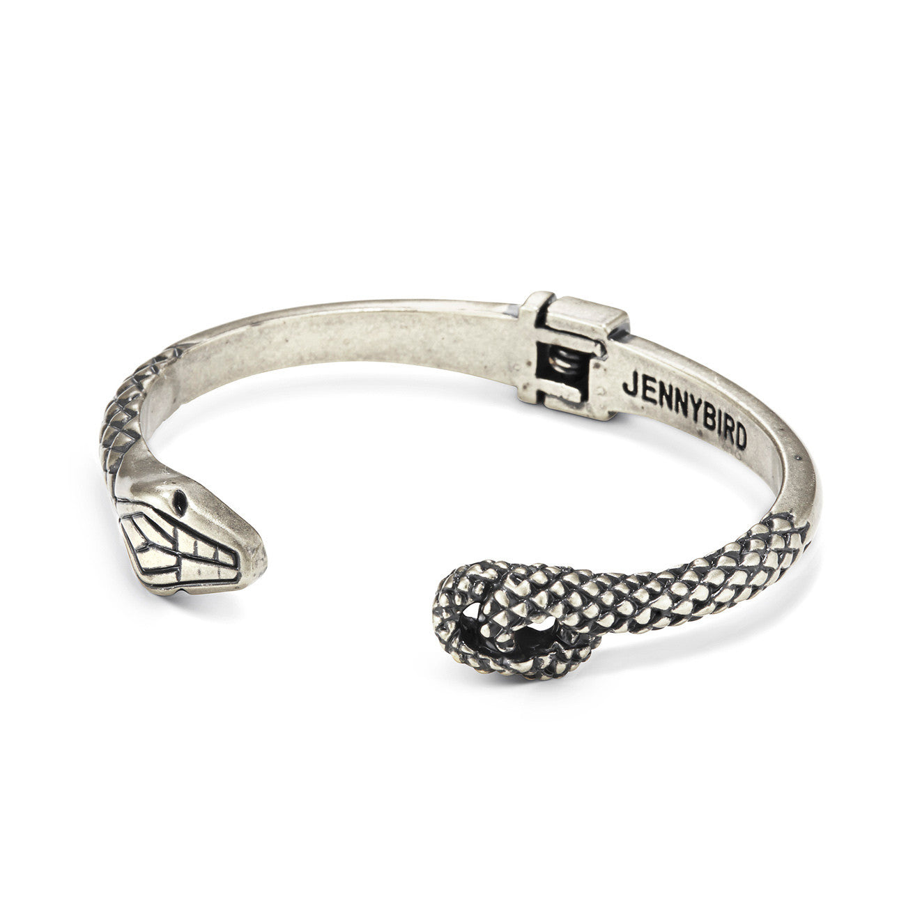 Kundali Prince Serpent Bangle in Silver by Jenny Bird