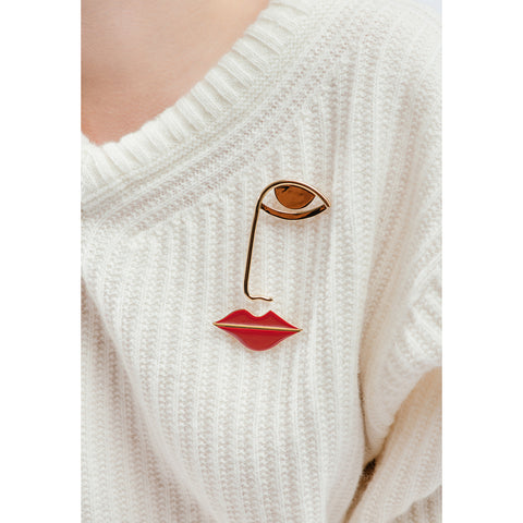The La Bouche Pin by Jenny Bird in Red