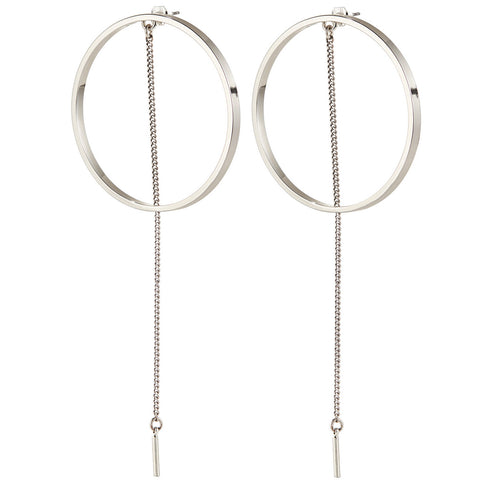 Jenny Bird Rhine Hoop Earrings in Silver