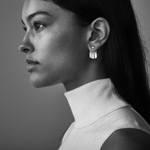 Raya Ear Jackets By Jenny Bird in High Polish Silver
