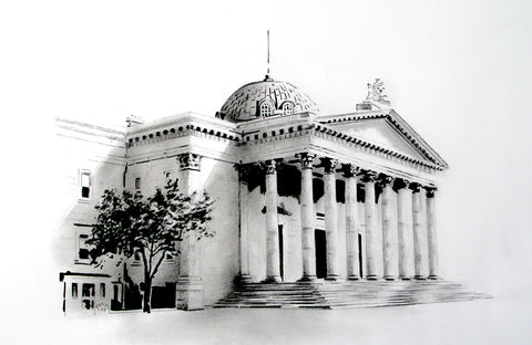 Cork Courthouse, Washington Street, Cork by artist Trevor Goring