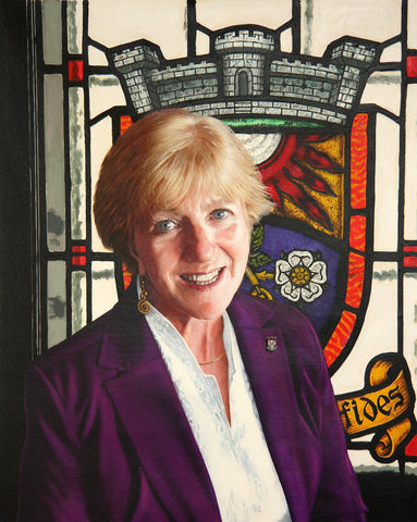 Karin Marks. Mayor of Westmount portrait by artist Trevor Goring