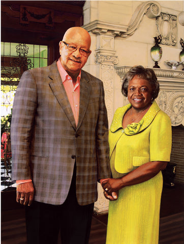 James and Pauline Montgomery of Chicago. Portrait by artist Trevor Goring