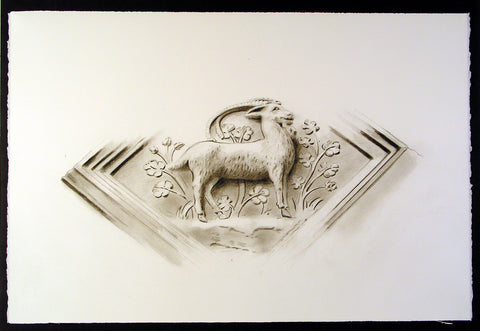 UCC Ram decoration by artist Trevor Goring
