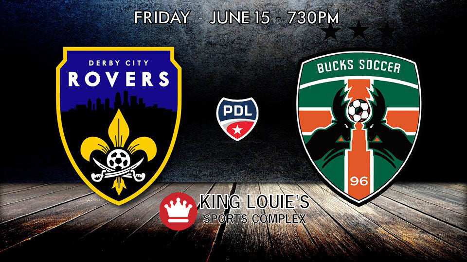 Adult Game Ticket: Derby City Rovers vs Michigan Bucks - June 15, 2018 - 7:30PM
