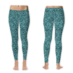Leggings - Glitter - Teal