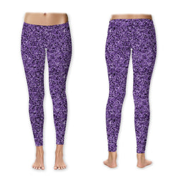 Leggings - Glitter - Purple